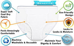 Men's Reusable Incontinence Briefs