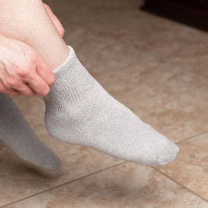 Diabetic Ankle Socks - Gray - size 9-11/10-13 - 6 Pairs/12 Pairs