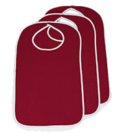 "Bibs - Burgundy, Dimensions: 30"" X 18"" -  3 Pack, 12 Pack, 36 Assorted Pack"