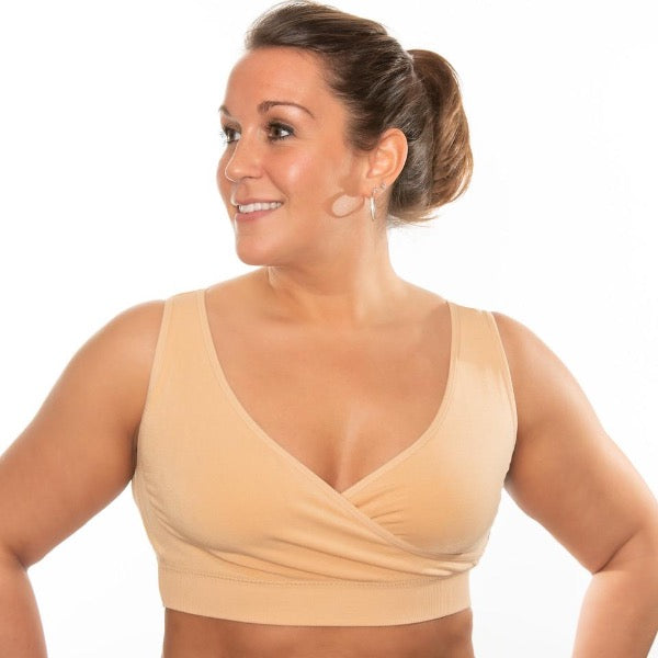 Crossover Sleep & Leisure Bra (Nude) - ComfortFinds