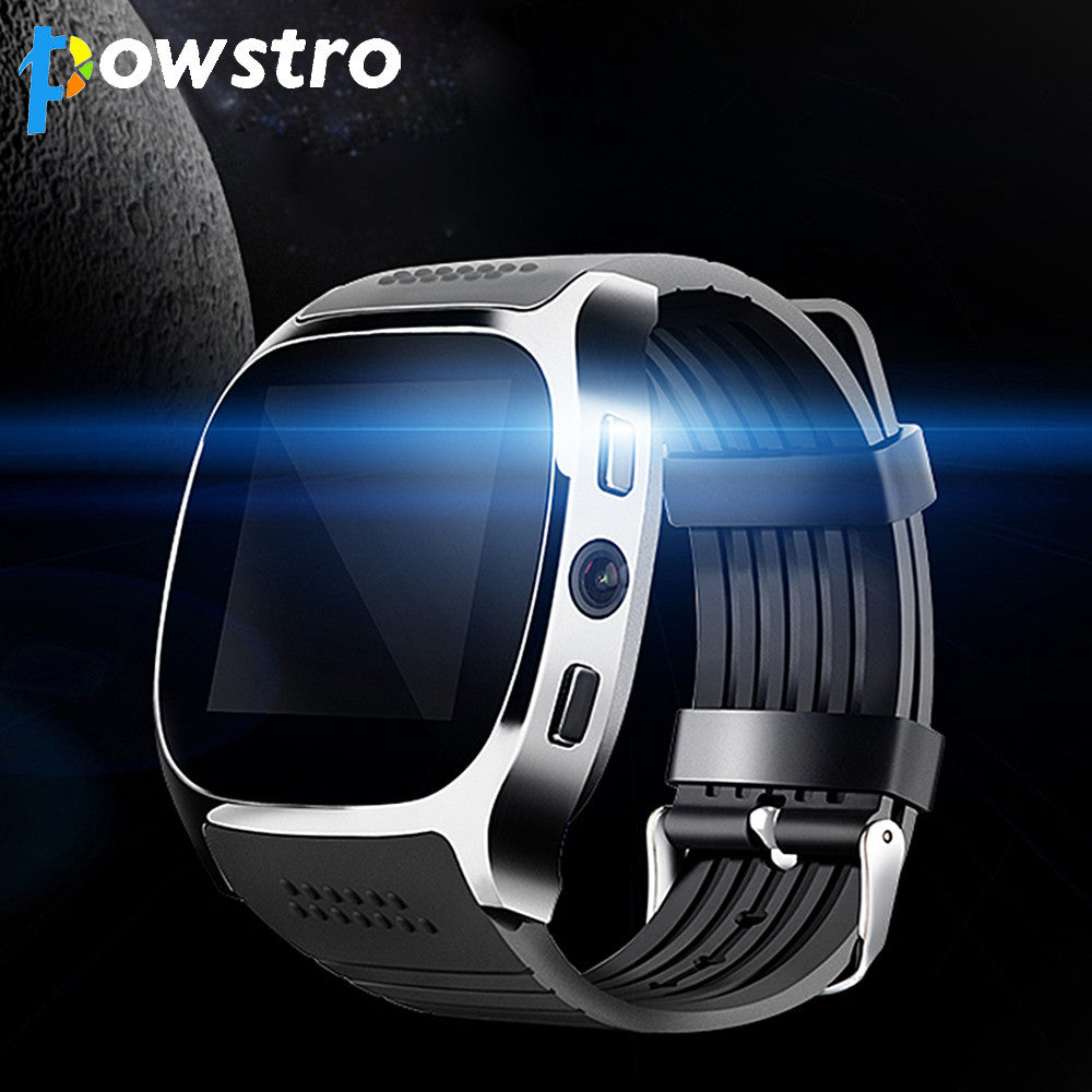 Powstro Smart Watch T8 Bluetooth Smart Watch Heart Rate Sport Or With Camera 1.54 inch IPS Screen Dial Pedometer Sleep Monitor