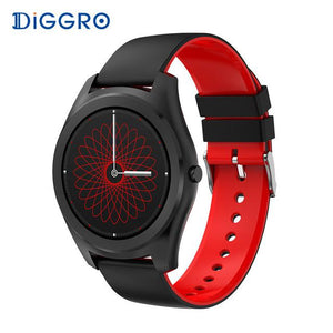 Simple Round Face Waterproof Heart Rate Monitor Smart Watch