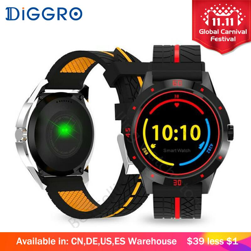 Round Face Smart Watch with Heart Rate Monitor and Bluetooth
