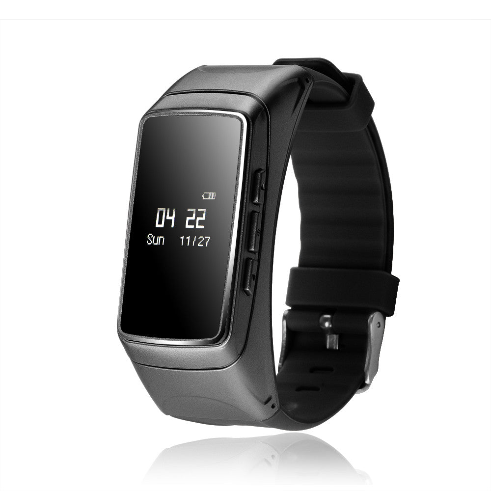 FORNORM 2 in 1 Multifunction Bracelet Wristband Bluetooth Smart Watch Heart Rate Monitor Pedometer For IOS Android Smartphone