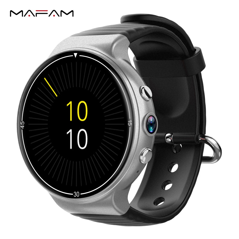 MAFAM Smartwatch 4G WIFI GPS 1GB+16GB SIM Card Bluetooth 400*400 AMOLED Watch Heart Rate Monitor I8 Smart Watch For IOS Android
