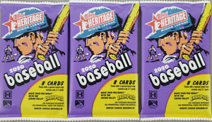 2020 Topps Heritage Minor League 3 PACK LOT!!