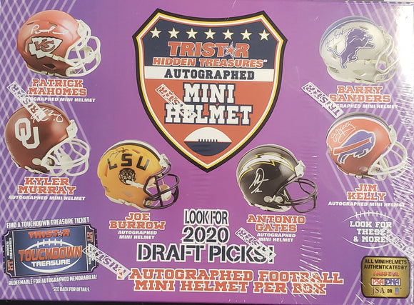 2020 Tristar Hidden Treasures Autographed Football Mini Helmet Edition Box
