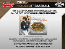 2020 Topps Pro Debut Baseball Hobby Box