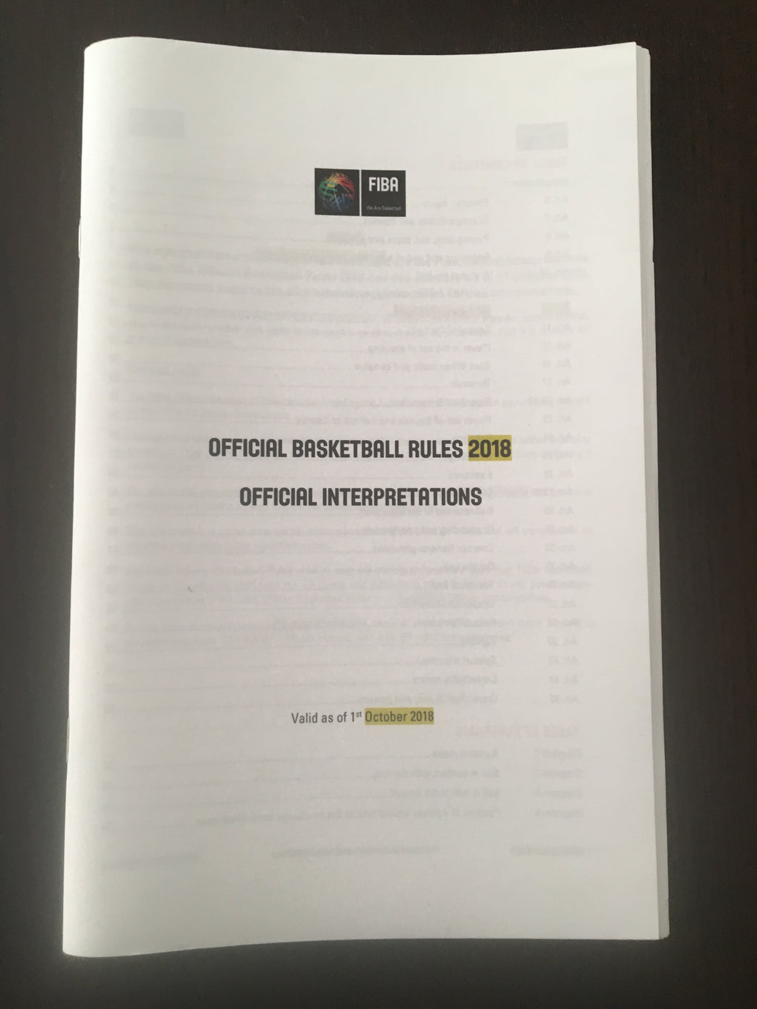 FIBA Official Interpretations - 2019 Edition