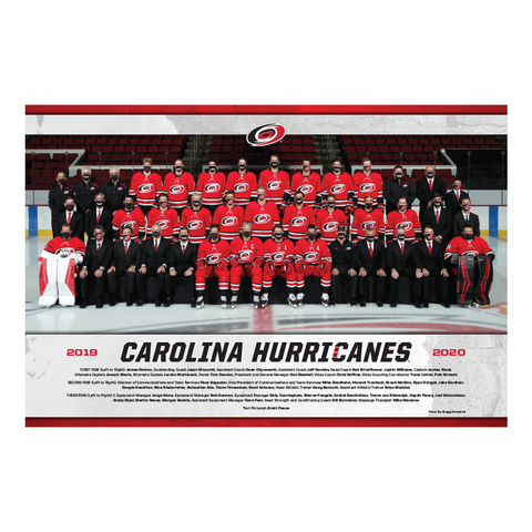 Carolina Hurricanes 2019-20 Commemorative Team Poster