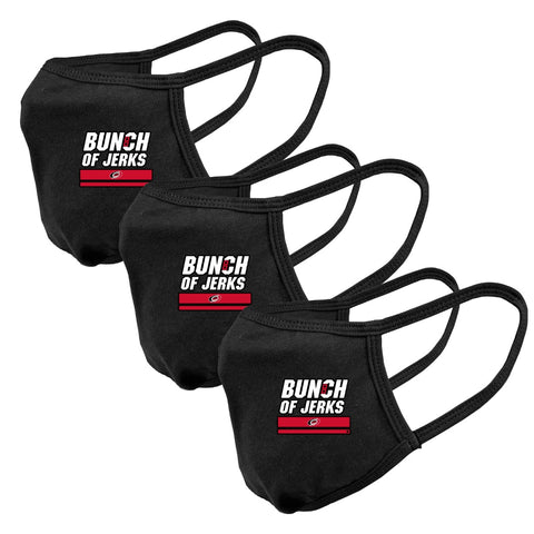 Levelwear Hurricanes Bunch of Jerks 3-pack Reusable Cloth Face Covering
