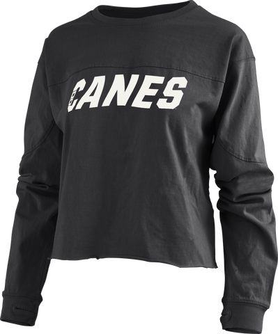 PressBox CANES Big Shirt Crop