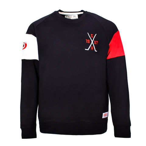 CCM Vintage Cross Sticks Fleece Crew