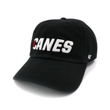 '47 Brand CANES Wordmark Clean Up Hat