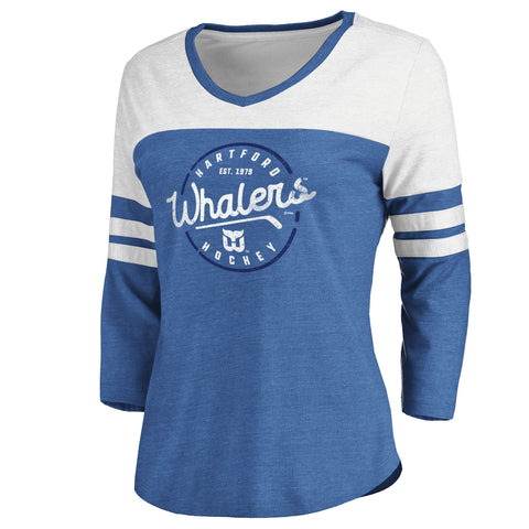 Fanatics Ladies True Classics Whaler 3/4 Sleeve