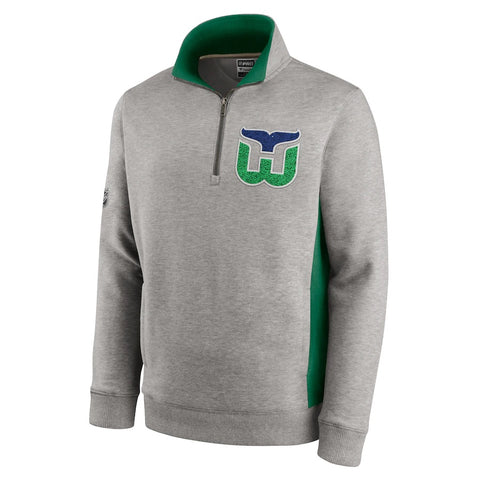 Fanatics Whalers Special Edition Archival Throwback 1/4 Zip Pullover