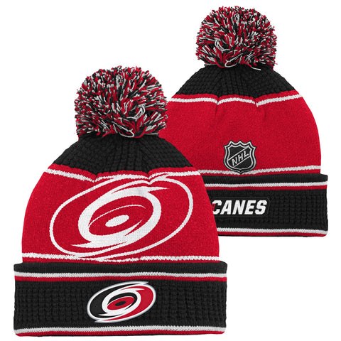 Youth Hurricanes Grinder Jacquard Cuff Knit Pom