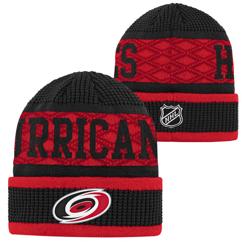 Youth Hurricanes Puck Pattern Cuffed Knit