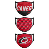 Hurricanes Gametime 3-pk Face Covering