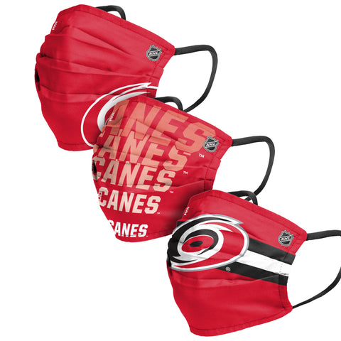 Pleated Hurricanes Match Day 3-pk Face Covering