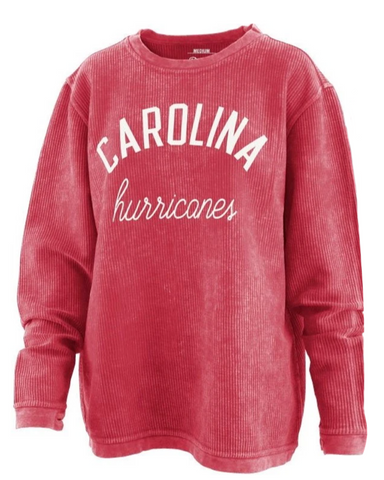 PressBox Hurricanes Red Comfy Cord Long-Sleeved Tunic