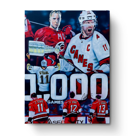 Jordan Staal 1000th Game Commemorative Print