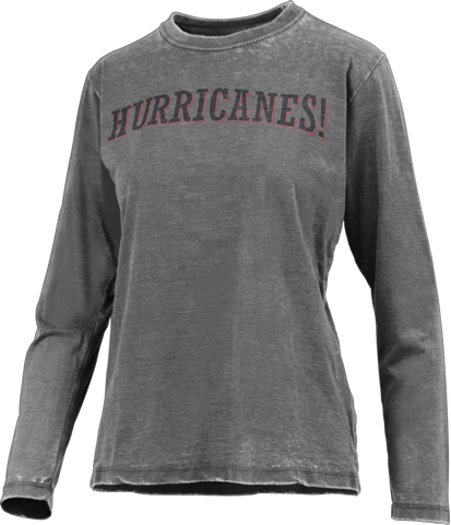 PressBox Ladies HURRICANES! Vintage L/S Tee