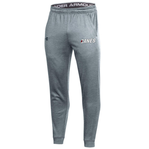 CANES Under Armour Men's Grey Joggers