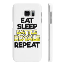"Slim Phone Cases ""EAT SLEEP BATTLE ROYALE REPEAT"""