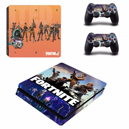 Fortnite PS4 Slim Skin Sticker For Sony PlayStation 4  2 Controller Skins
