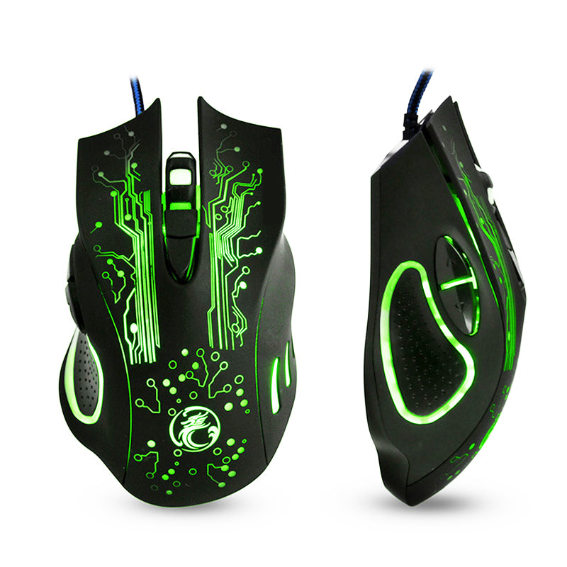 Wired Pro Gaming Mouse 5000dpi   Changeable LED Light 6 Buttons