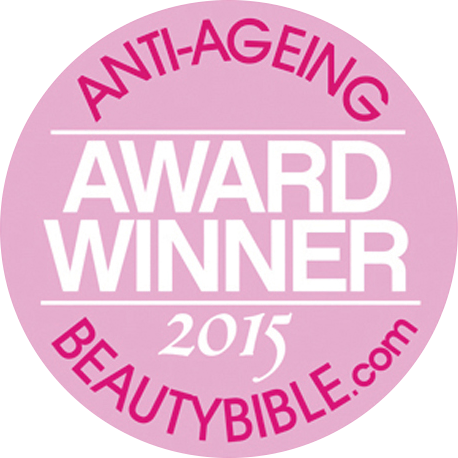 Third time winner of Beauty Bible Awards For Anti-Ageing