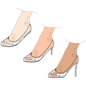 Foot Pads Friction Prevention, protects from blisters and sensitive feet in from fashion flats to high heel shoes