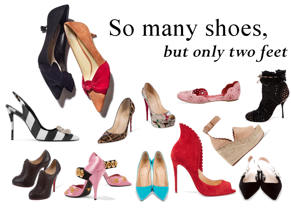 Types of shoes Solewells work with