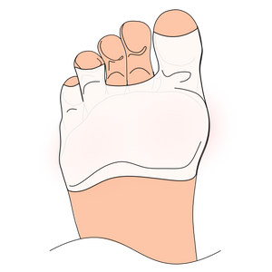 Foot pads cover the bottom of the foot to prevent blisters, sliding and sensitive feet in high heels and other fashion shoes shoes