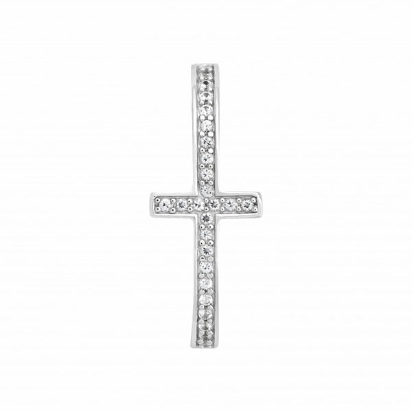 Evolution Sterling Silver Cross Insert with White Sapphires