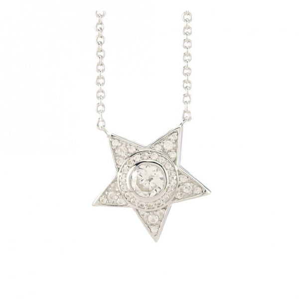 5-Pointed Lucky Star White Sapphire