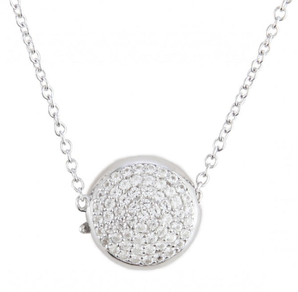 Perfect Gift Magnetic White Sapphire Pave Pendant