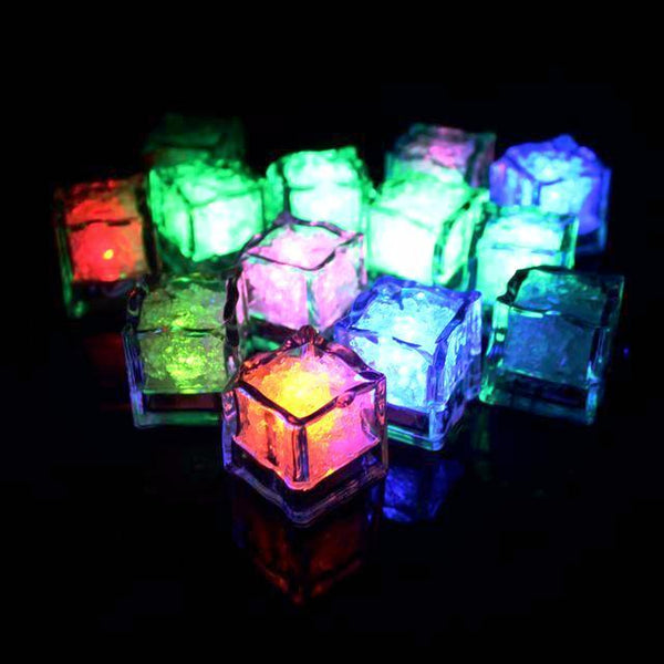 LED Ice Cubes (12 Pcs /  7 Colors)