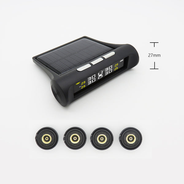 LCD Solar Power Tire Pressure Monitor System (TPMS)