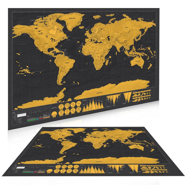 Deluxe Scratch Off Travel Map Poster