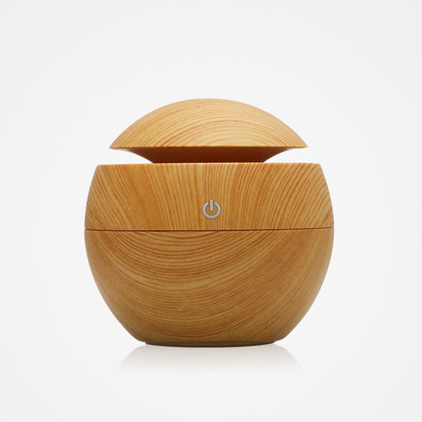 LED Wood Humidifier & Essential Oil Diffuser (130ml)