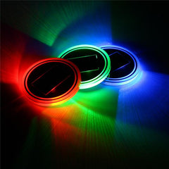 Solar Powered Cup Holder LED Mat (3 Colors)