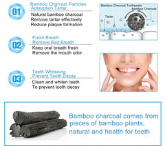 100% Natural Activated Charcoal Powder & Bamboo Toothpaste Combo