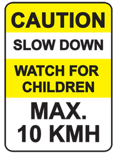 Caution Sign : Slow