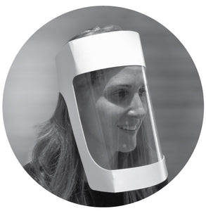 Eco-Disposable Face Shields - 100 Pack