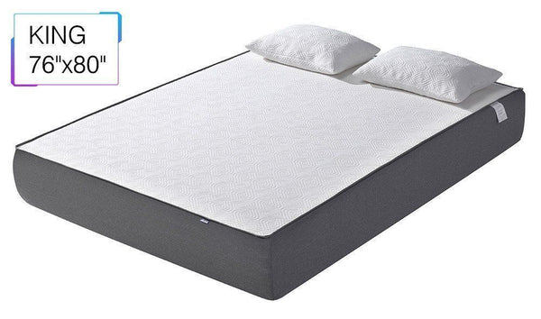 "KING - Colchón de espuma viscoelástica, gel fresco, 10 "", cama, tamaño Queen King USA STOCK"