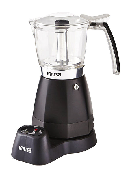 IMUSA USA B120-60006 Electric Coffee/Moka Maker 3-6-Cup Black