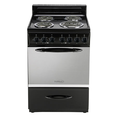 "4 BURNERS ELECTRIC STOVE  WITH OVEN 24""WIDE FOR APARTMENT/ Black color"
