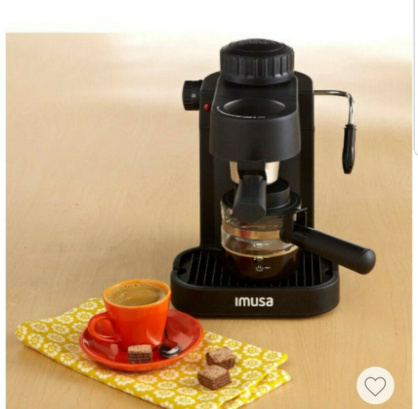 Imusa expresso maker  4 Cup electric with Glass Carafe Plastic Handle Lid Clear
